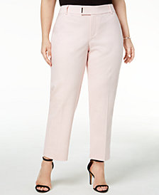 Charter Club Plus Size Straight-Leg Ankle Pants, Created for Macy's