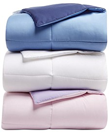 Martha Stewart Collection Essentials Reversible Solid Down Alternative Comforter, Created for Macy's