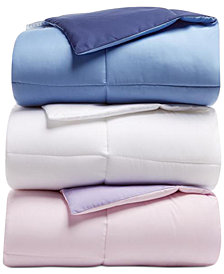 Martha Stewart Essentials Reversible Down Alternative Full/Queen Comforter, Created for Macy's