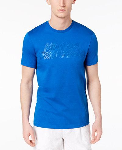Armani Exchange Men's Pima Cotton Logo-Print T-Shirt