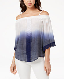 BCX Juniors' Ombré Off-The-Shoulder Top