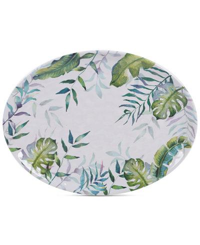 Certified International Tropicana Melamine Oval Platter