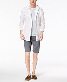American Rag Men's Textured Hooded Shirt, Nep T-Shirt & Geo-Print Shorts, Created for Macy's