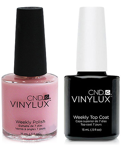 Creative Nail Design Vinylux Negligee Nail Polish & Top Coat (Two Items), 0.5-oz., from PUREBEAUTY Salon & Spa