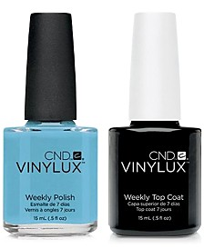 Creative Nail Design Vinylux Azure Wish Nail Polish & Top Coat (Two Items), 0.5-oz., from PUREBEAUTY Salon & Spa