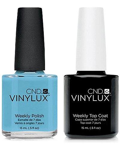 Creative Nail Design Vinylux Azure Wish Nail Polish & Top Coat (Two Items), 0.5-oz., from PUREBEAUTY Salon & Spa