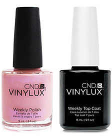 Creative Nail Design Vinylux Blush Teddy Nail Polish & Top Coat (Two Items), 0.5-oz., from PUREBEAUTY Salon & Spa