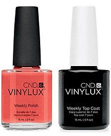 Creative Nail Design Vinylux Desert Poppy Nail Polish & Top Coat (Two Items), 0.5-oz., from PUREBEAUTY Salon & Spa