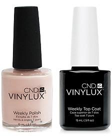 Creative Nail Design Vinylux Naked Naiveté Nail Polish & Top Coat (Two Items), 0.5-oz., from PUREBEAUTY Salon & Spa