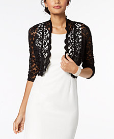 Connected Scalloped Lace Shrug- Regular & Petite sizes