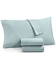 Martha Stewart Collection Organic 3-Pc. Twin Sheet Set, 300 Thread Count GOTS Certified, Created for Macy's