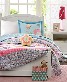 Mi Zone Kids Crazy Daisy 4-Pc. Full/Queen Coverlet Set