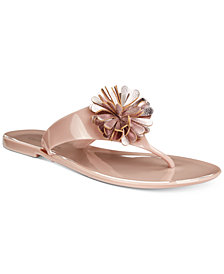 Charter Club Daphnee Flat Thong Jelly Sandals, Created For Macy's