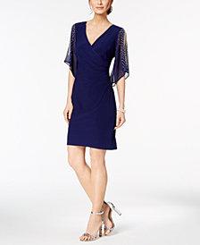 MSK Petite Embellished Cold-Shoulder Dress