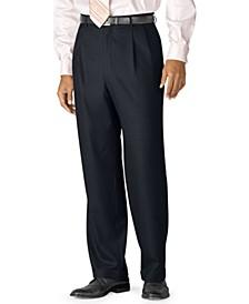 100% Wool Double-Reverse Pleated Dress Pants