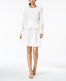 Nine West Eyelet Top & A-Line Skirt