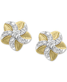 EFFY Kidz® Children's Diamond Flower Stud Earrings (1/10 ct. t.w.) in 14k Gold