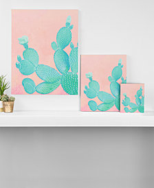 Deny Designs Kangarui Pastel Cactus Canvas Collection