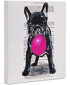 "Deny Designs Coco de Paris Bulldog with Bubblegum 16"" x 20"" Canvas Wall Art"