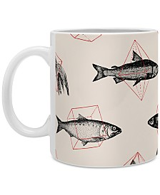 Deny Designs Florent Bodart Fishes In Geometrics Coffee Mug