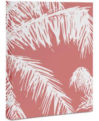 "The Old Art Studio Pink Palm Art Canvas 8x10"""