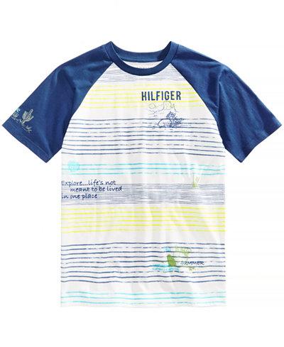 Tommy Hilfiger Graphic-Print Raglan T-Shirt, Big Boys