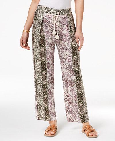Be Bop Juniors' Printed Pull-On Pants