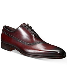 Massimo Men's Asymmetrical Seam Oxfords, Created for Macy's