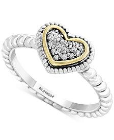 EFFY Kidz® Children's Diamond Accent Heart Ring in Sterling Silver & 18k Gold