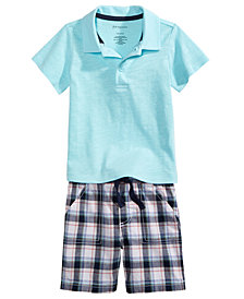 First Impressions Polo Shirt & Shorts Separates, Baby Boys, Created for Macy's