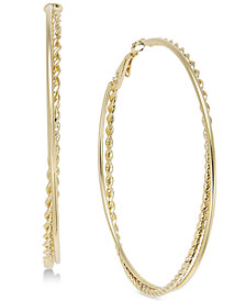 Thalia Sodi Gold-Tone Twist Double Hoop Earrings, Created for Macy's