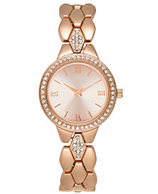 Charter Club Women's Rose Gold-Tone Crystal-Accent Bracelet Watch 31mm, Created for Macy's