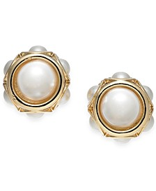 Gold-Tone Imitation Pearl Stud Earrings, Created for Macy's