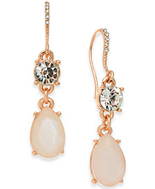 Charter Club Gold-Tone Crystal & Stone Double Drop Earrings, Created for Macy's