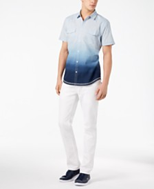 I.N.C. International Concepts Men's Ombré Shirt & Jeans Separates, Created for Macy's