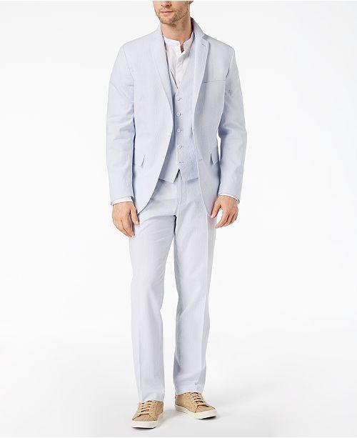 19dd3a0cd1c5 INC International Concepts I.N.C. Men s Seersucker Suit Separates ...