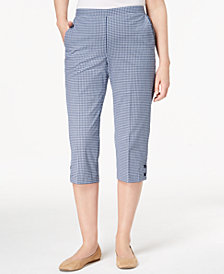 Alfred Dunner Perfect Match Gingham Pull-On Capri Pants