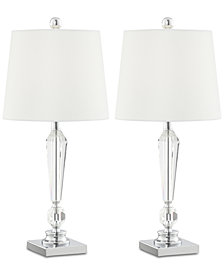 Pacific Coast Diamond Drum Table Lamp, Set of 2
