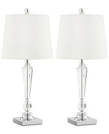 Pacific Coast Diamond Drum Table Lamp, Set of 2