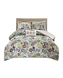 Tamil 4-Pc. Full/Queen Duvet Cover Set