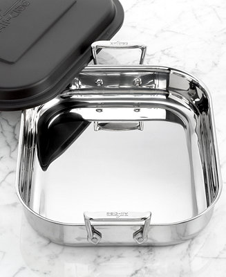 All Clad Stainless Steel Covered Lasagna Pan Cookware