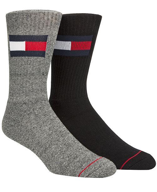da57803d2 Tommy Hilfiger Men s 2-Pk. Logo Crew Socks   Reviews - Underwear ...