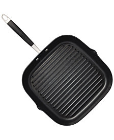 "Anolon Advanced Onyx Hard-Anodized Non-Stick Deep Square 11"" Grill Pan"
