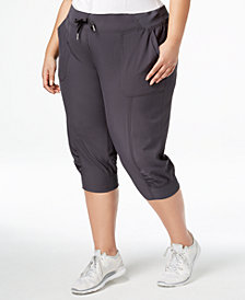 Calvin Klein Performance Plus Size Seamed Cuffed Capri Pants