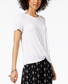Twist-Hem High-Low T-Shirt, Created for Macy's