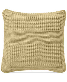 "Charter Club Damask Designs Multi-Knit 20"" Square Decorative Pillow, Created for Macy's"
