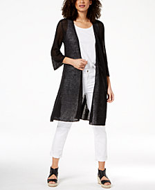 Eileen Fisher Organic Linen Sheer Cardigan