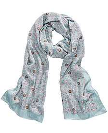 COACH Love Floral Oblong Scarf