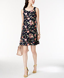 Robbie Bee Petite Multicolored Floral-Embroidered Dress