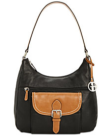Giani Bernini Pebble Leather Hobo, Created for Macy's